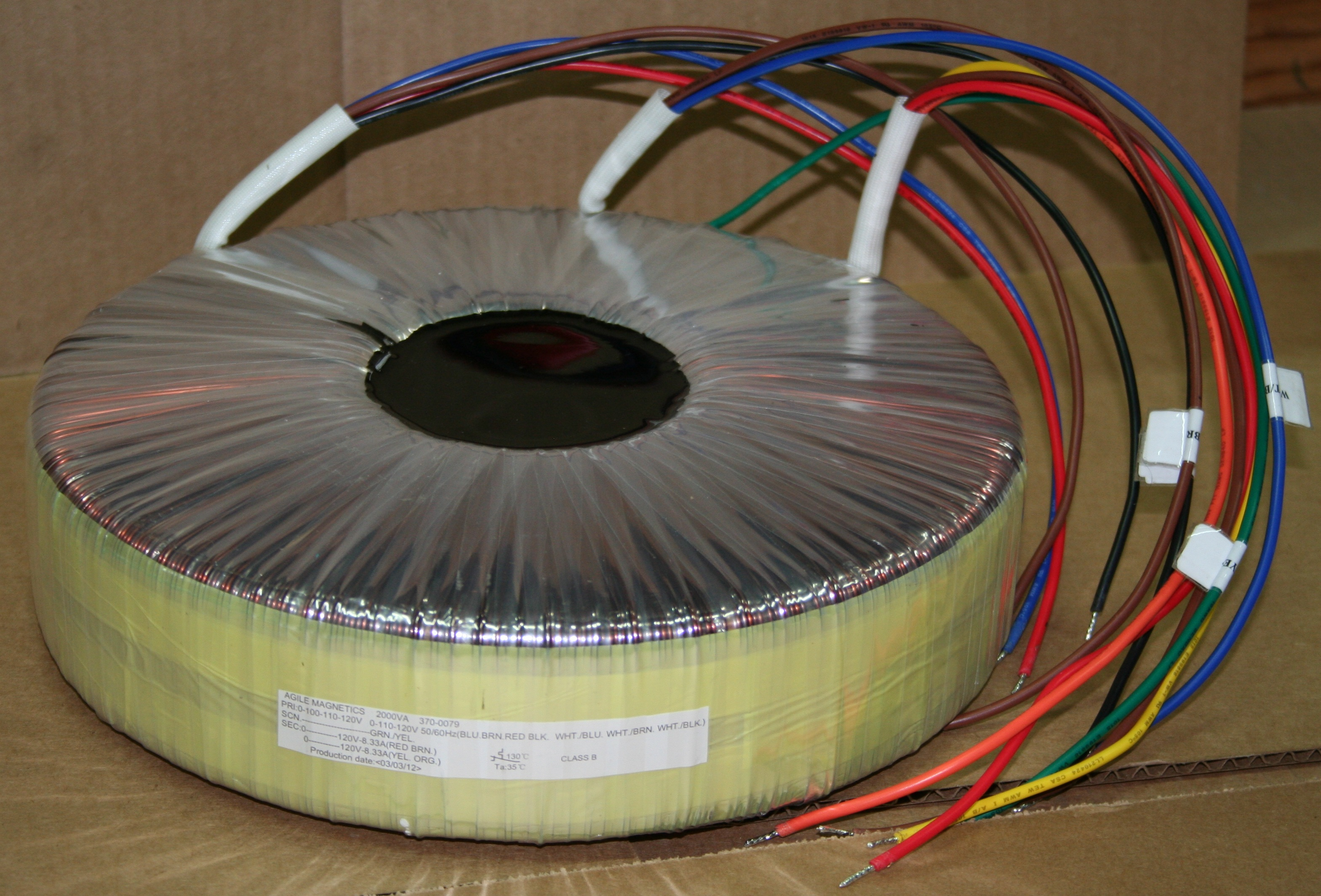 Toroidal Transformer Wiring Diagram : Toroidal transformers agile magnetics inc